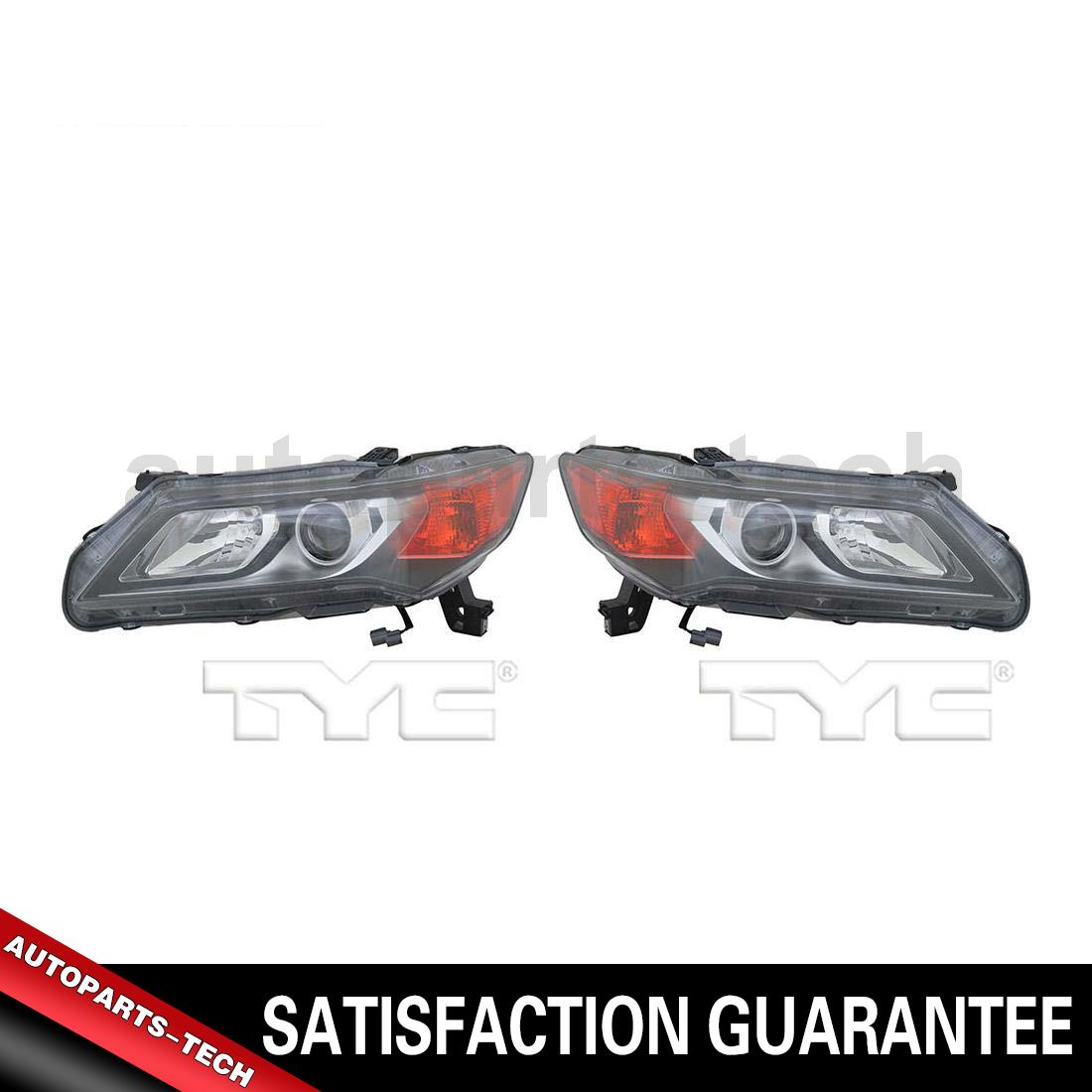 2x TYC Left Right Headlight Assembly For Acura ILX 2013