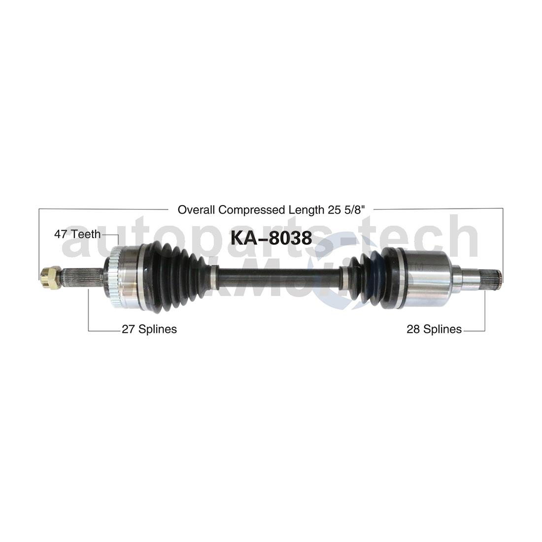 New CV Axle Shaft A Pair Front Left /& Right For 2004-2006 Kia Amanti Base