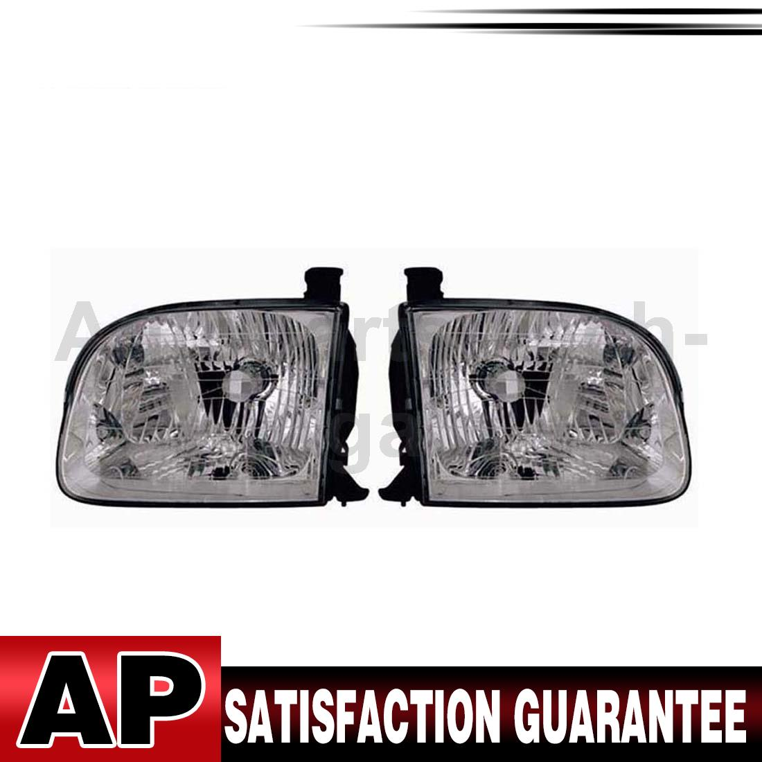 TYC Headlight Assembly Left Right Set Of 2 For Toyota Sequoia 2001-2004